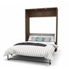 Queen Wall Bed in Oak Barrel and White