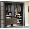 "Elite 59"" Reach-In Closet in Oak Barrel and White"