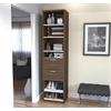 "19.5"" Shoe/Closet Storage Unit with drawers in Oak Barrel and White"