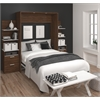 "Elite 98"" Full Wall Bed kit in Oak Barrel and White"