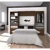 "Premium 118"" Full Wall Bed kit in Oak Barrel and White"