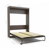 "Edge by Bestar Queen Wall bed with two 21"" storage units and doors in Dark Chocolate"
