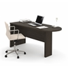Bestar Embassy peninsula table in Dark Chocolate