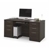 "Bestar Embassy 66"" Executive desk kit in Dark Chocolate"