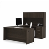 "Bestar Embassy 66"" U-shaped desk in Dark Chocolate"