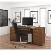 "Bestar Embassy 71"" Executive desk kit in Tuscany Brown"