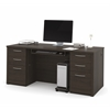 "Bestar Embassy 71"" Executive desk kit in Dark Chocolate"