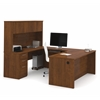 "Bestar Embassy 71"" U-shaped desk in Tuscany Brown"
