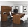 "Bestar Embassy 71"" U-shaped desk in Tuscany Brown"