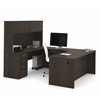 "Embassy 71"" U-shaped desk in Dark Chocolate"