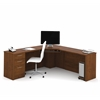 Bestar Embassy Corner Desk in Tuscany Brown