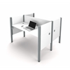 Bestar Pro-Biz Double face to face workstation in White