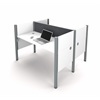 Bestar Pro-Biz Double face to face workstation in White with Gray Tack Boards