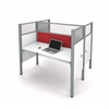Bestar Pro-Biz Double face to face workstation in White with Red Tack Boards