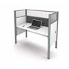 Bestar Pro-Biz Simple workstation in White with Gray Tack Board