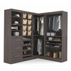 Corner Storage kit in Bark Gray