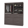 "72"" Storage kit in Bark Gray"