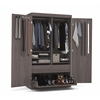 Pullout Armoire in Bark Gray