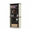 Prestige modular bookcase in White Chocolate & Antigua