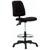 Contoured Drafting Chair - Black Fabric