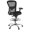 Deluxe Mesh Drafting Stool with Arms