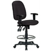 Extra Tall Ergonomic Drafting Chair - Black