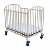 The New Folding Arched Compact Crib, White