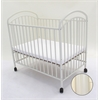 LA Baby Classic Arched Mini/Portable/Compact Crib, White