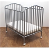 Mini/Portable/Compact Crib, Pewter