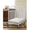 Arched Metal Compact Crib, White