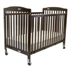 L.A. Baby Full Size Folding Pocket Crib-Cherry, Cherry