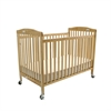 L.A. Baby Full Size Folding Pocket Crib- Natural, Natural