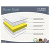 LA Baby Sleepy Night Mattress, White