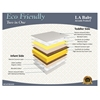 LA Baby Eco Friendly Two in One/Madison Jacquard Cover Mattress, White