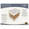 Natural III Natural Coconut Fiber and Latex/Organic Cotton and Organic Cotton Cover Mattress, Tan