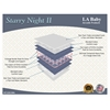 LA Baby Starry Night II Mattress, White