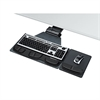 Fellowes Professional Corner Executive Keyboard Tray, 19w x 14-3/4d, Black