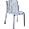 Fine Mod Imports Stripe Dining Chair, Clear