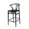 Woodstring Bar Stool Chair, Black
