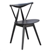 Fine Mod Imports Fronter Dining Chair, Black