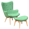 Grant Featherston Style Contour Lounge Set, Green
