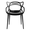 Fine Mod Imports Brand Name Dining Chair, Black
