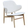 Fine Mod Imports Atel Lounge Chair, White