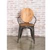 Fine Mod Imports Metal Dining Chair, Walnut