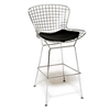 Fine Mod Imports Wire Bar Height Chair, Black
