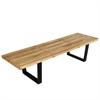 "Fine Mod Imports Wood Bench 60"", Natural"