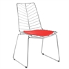 Wire Leaf Chair, Red