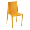 Fine Mod Imports Square Dining Chair, Yellow
