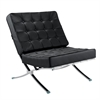Pavilion Chair in Italian Leather, Black