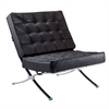 Fine Mod Imports Pavilion Chair in Italian Leather, Dark Brown